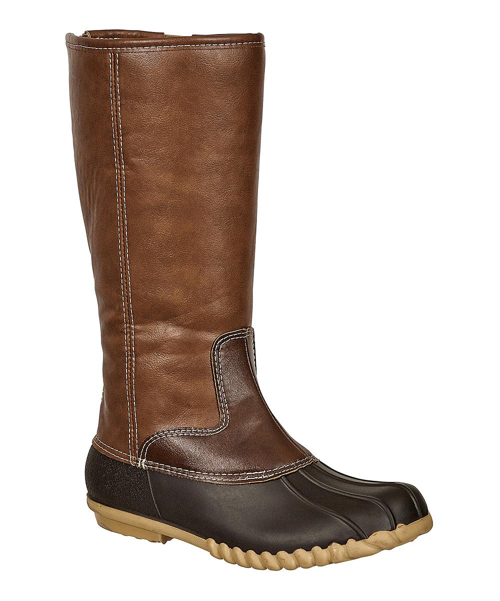 1a5972fe074 OUTWOODS Brown Autumn Tall Duck Boot - Women