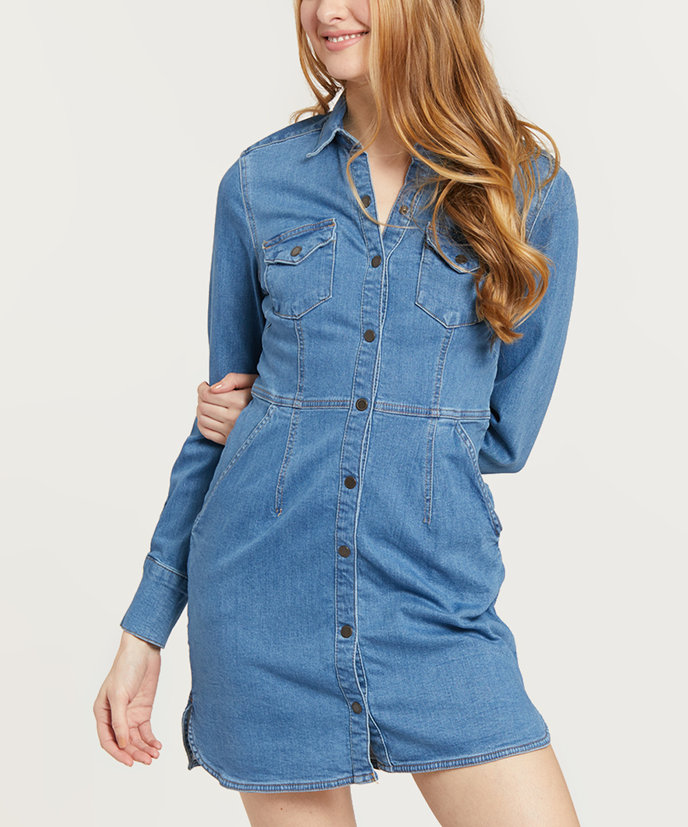 6e9c16cd05 Free People Blue Dynomite Denim Shirt Dress - Women