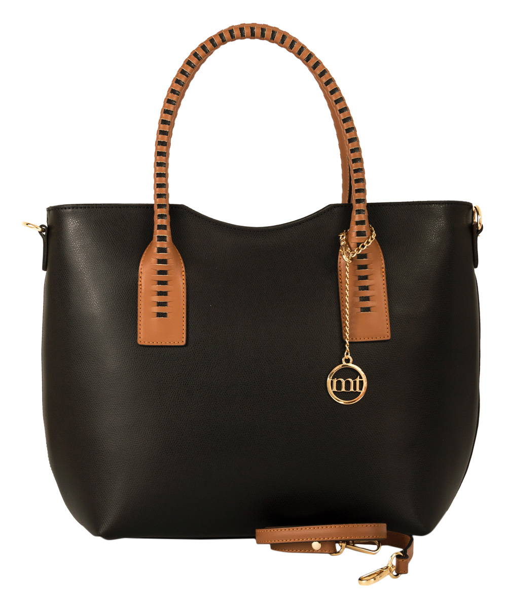 Black & Brown Leather Tote