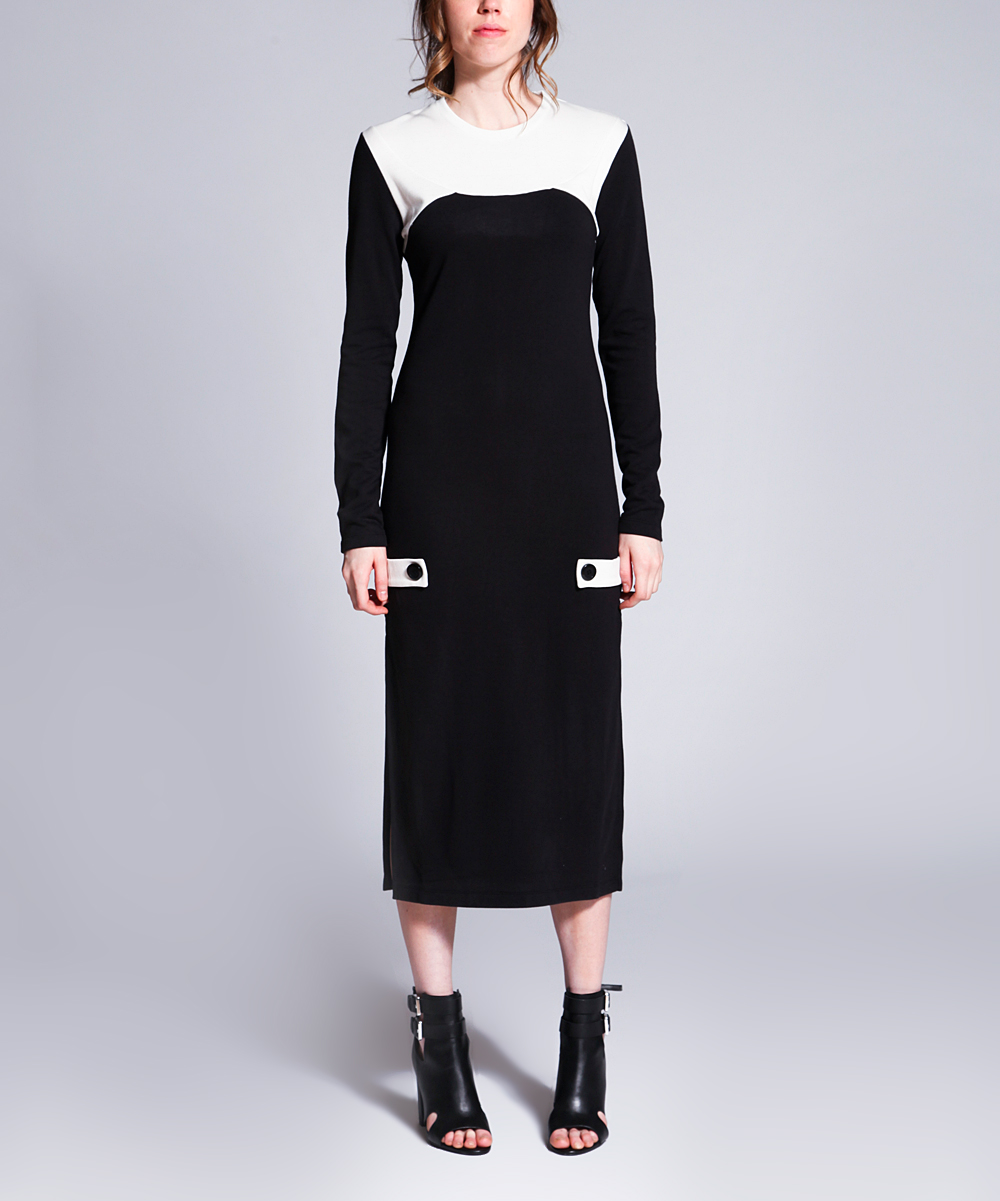 all gone. Black   White Kate Midi Dress - Women 9d28db571