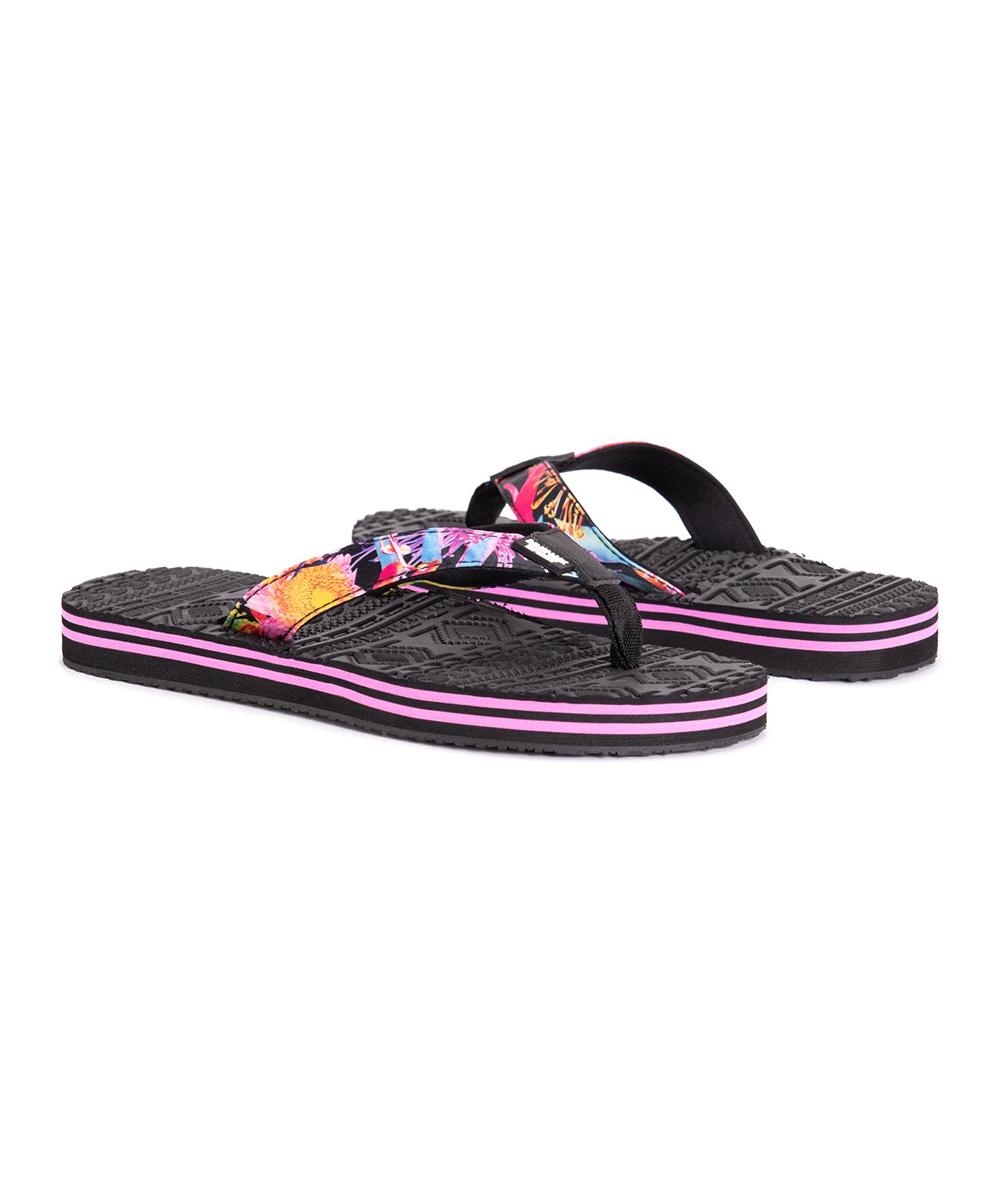 3a2a8b9099be4 Muk Luks Hot Pink Floral Emma Sporty Flip-Flop - Women