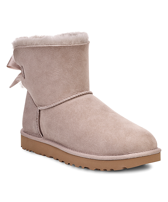 Ugg Oyster Mini Bailey Ii Bow Suede Boot Women Zulily