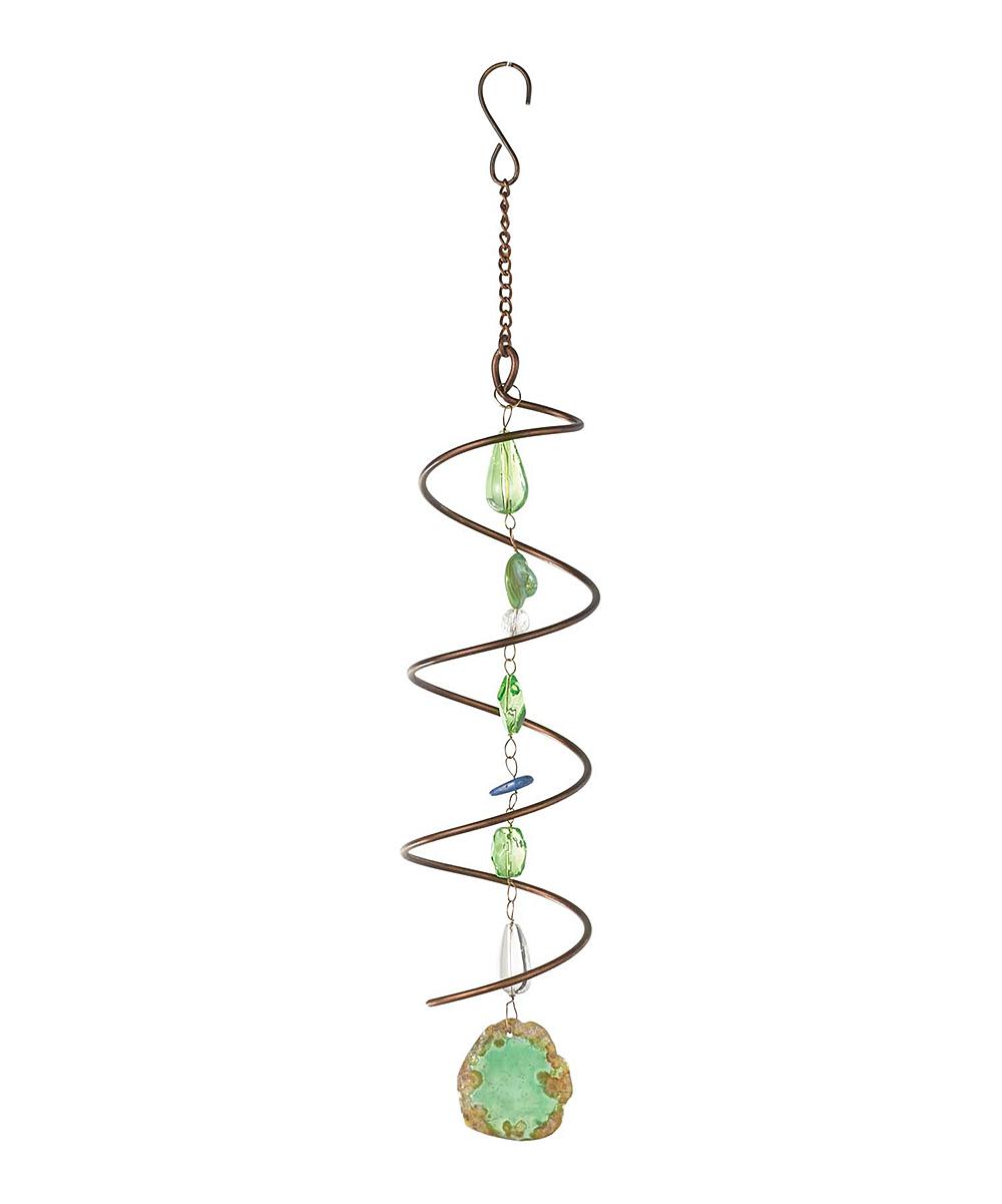 Green Elements Hanging Spiral Decoration