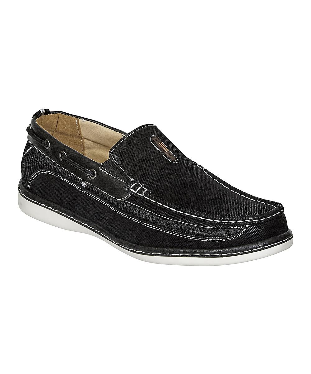 Aldo Rossini Men's Boat Shoes Black - Black Legacy Slip-On Boat Shoe - Men