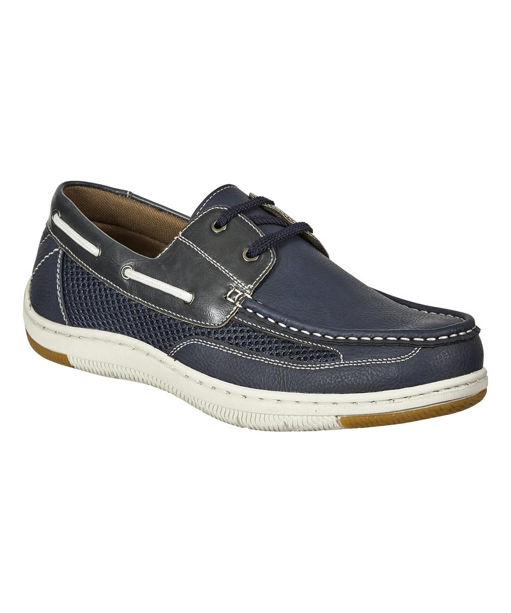 Aldo Rossini Men's Boat Shoes navy - Navy Stark Lace Boat Shoe - Men