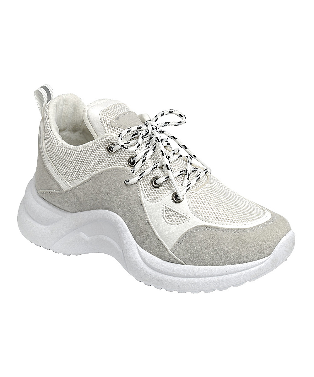 Forever Link Shoes Women's Sneakers white - White Standout Lace-Up Sneaker - Women