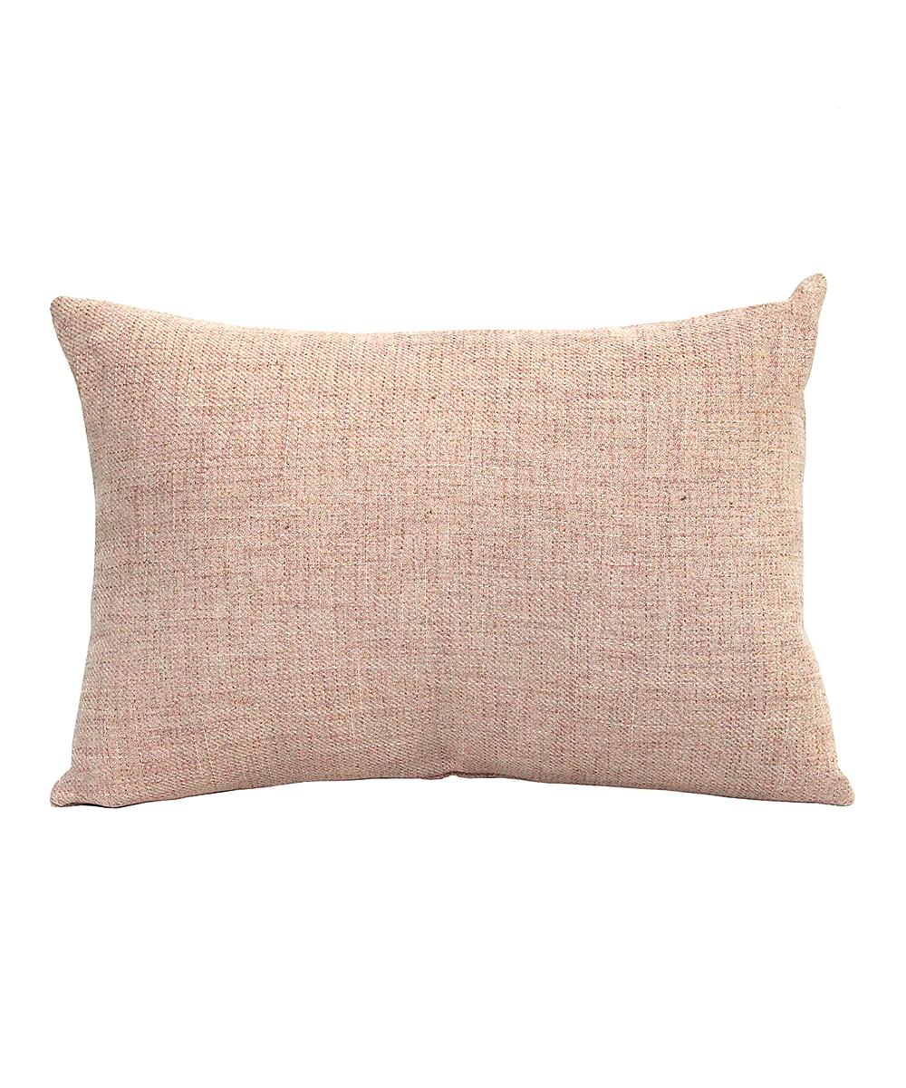 Pink Tweed Lumbar Throw Pillow