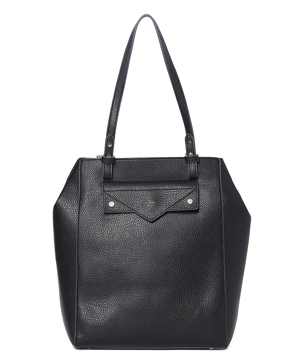 tutilo Women's Handbags BLACK - Black Charcoal Effortless Laptop Tote