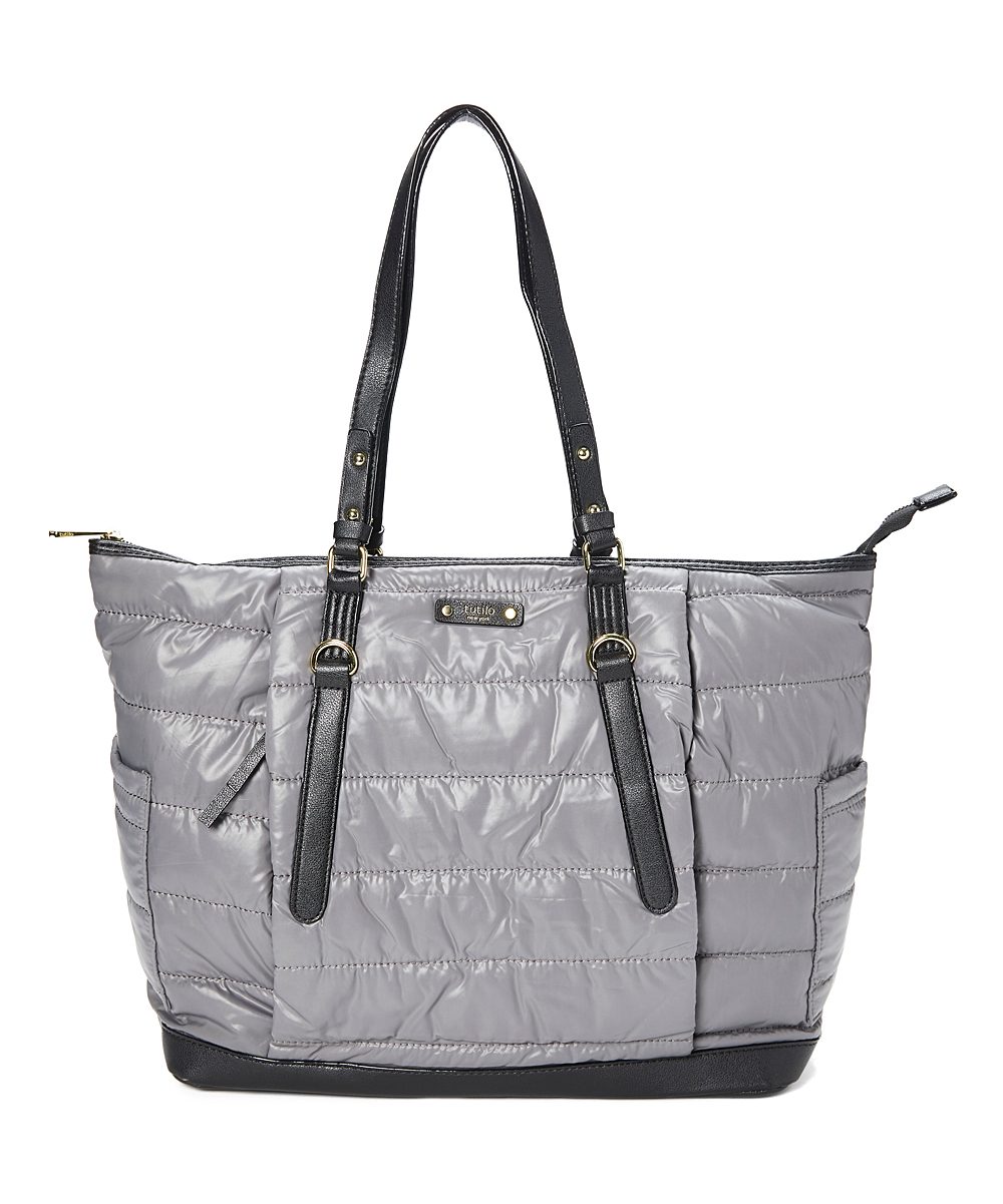 tutilo Women's Totebags CHARCOAL - Charcoal Vagabond Puffer Laptop Tote