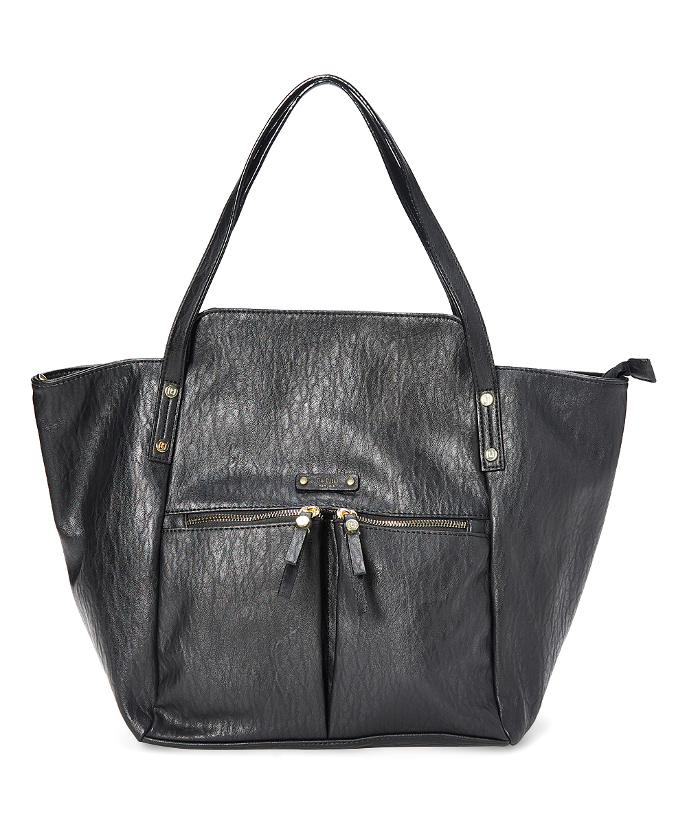 tutilo Women's Handbags BLACK - Black Line Up Laptop Tote