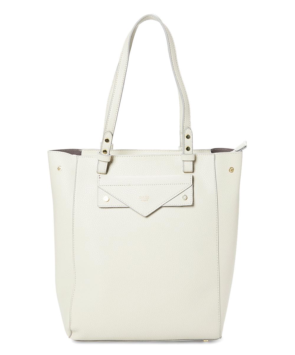 tutilo Women's Handbags STONE - White Effortless Laptop Tote