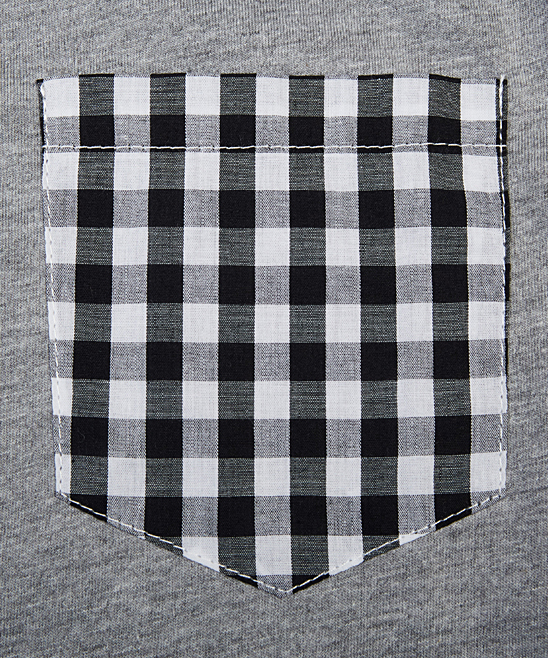 e6dbfced Filthy Etiquette Dark Gray Heather Contrast-Pocket Polo - Men | Zulily