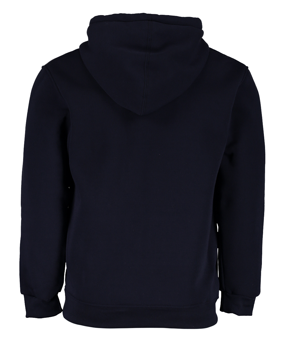 Black Fashion Fleece Zip Hoodie - Men Black Fashion Fleece Zip Hoodie - Men. Bring cool, casual style to his wardrobe options with this soft hoodie that has kangaroo pockets and adjustable drawstring.  Size XL: 27'' long from high point of shoulder to hem100% polyesterMachine washImported