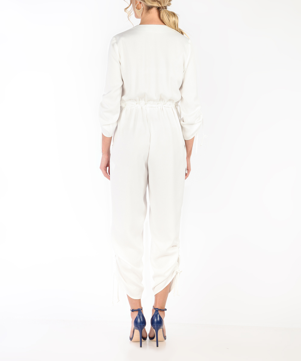 45a567ceb0c ... Womens WHITE White Keyhole Crop Jumpsuit - Alternate Image 4 ...