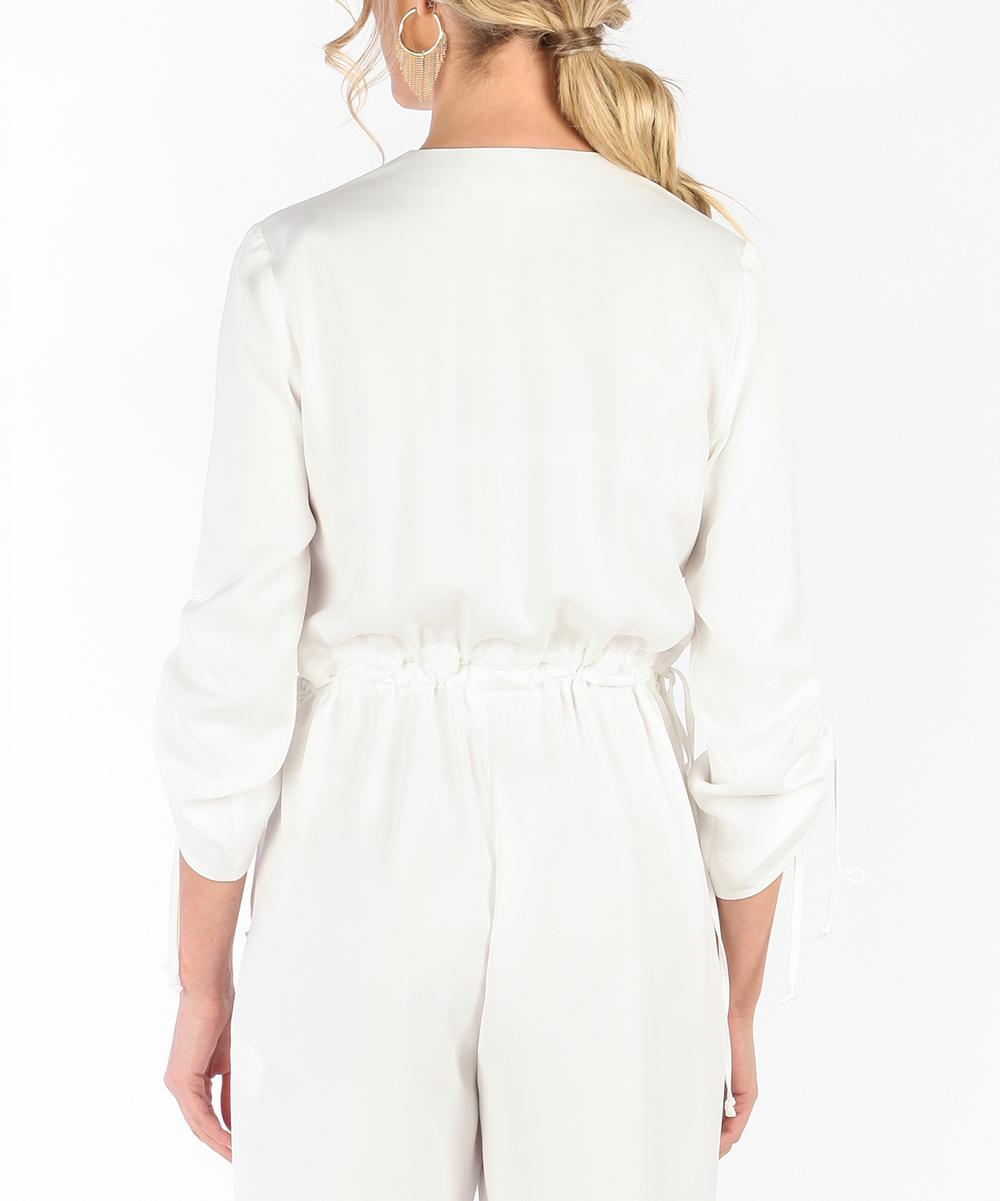 0f2b82e0529 ... Womens WHITE White Keyhole Crop Jumpsuit - Alternate Image 5