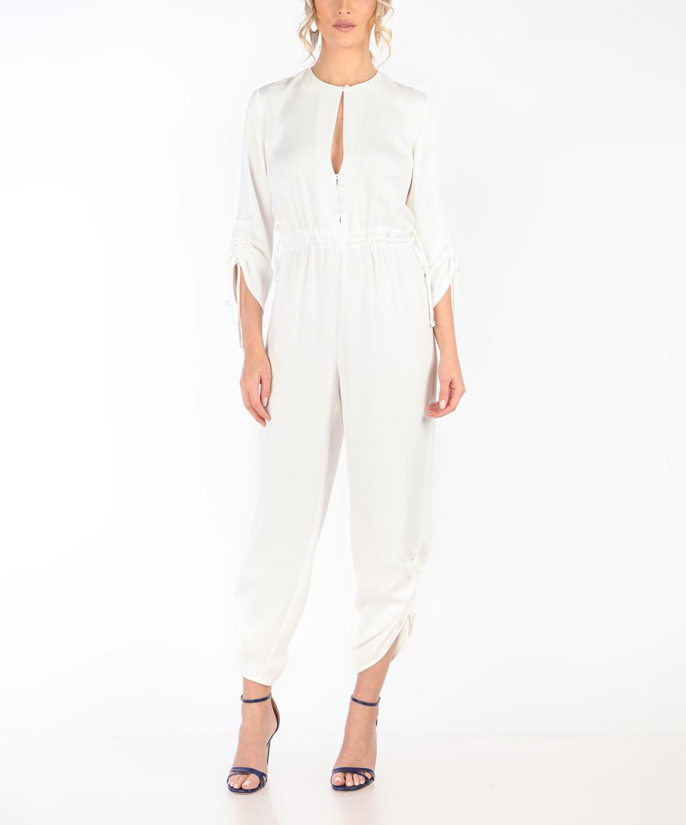 99fee925754 Carla by Rozarancio White Keyhole Crop Jumpsuit - Women