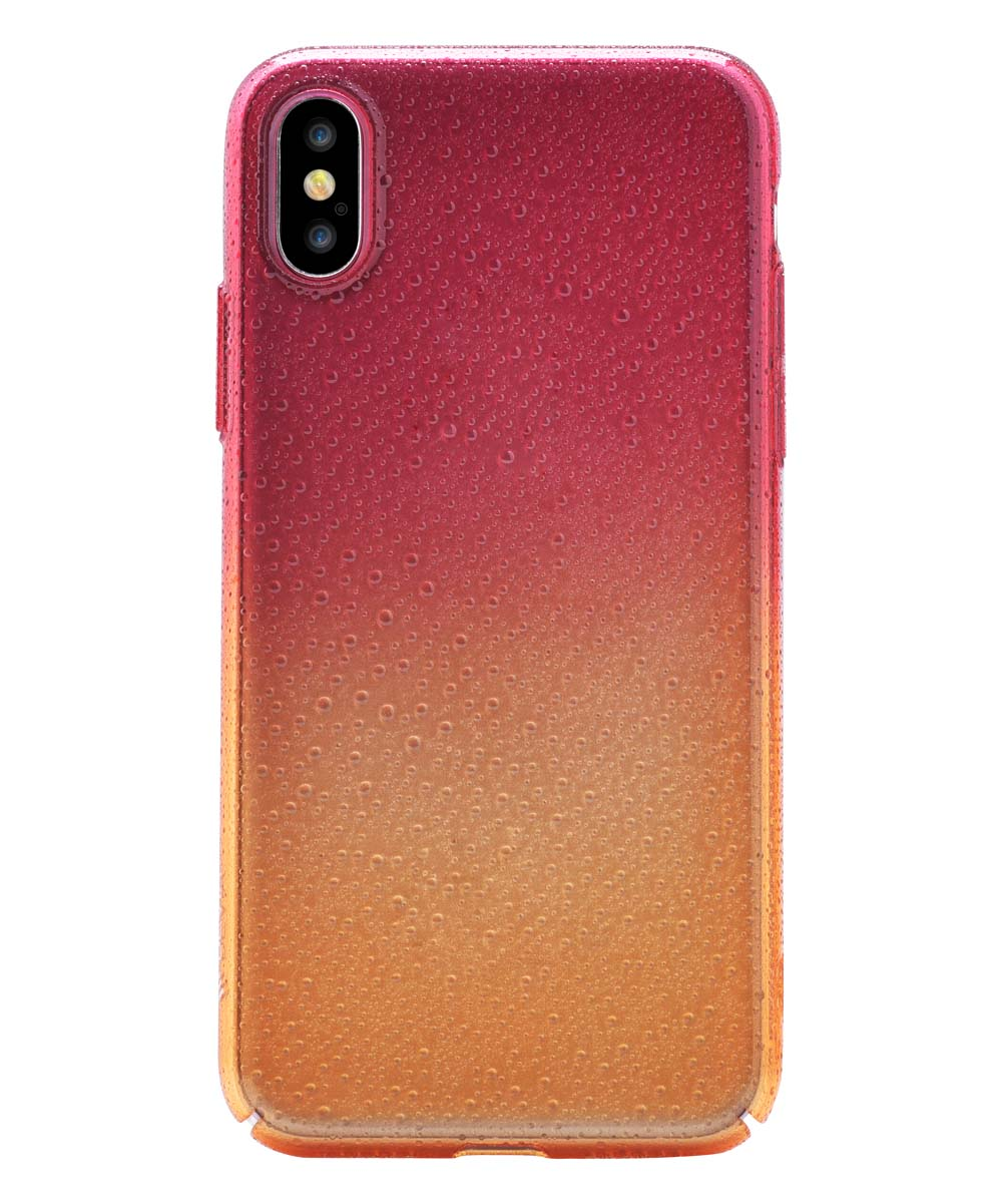 Orange Red Amber Case for iPhone X