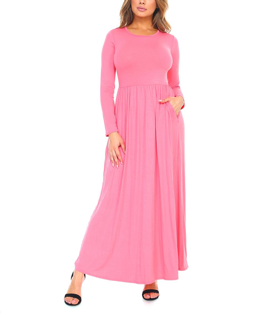 Isaac Liev Coral Side-Pocket Maxi Dress - Women  1a29ef100