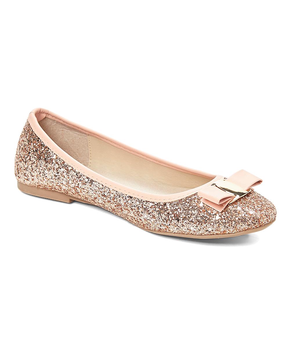 7bffbf4d333e GoldToe Rose Gold Glitter Ballet Flat - Women