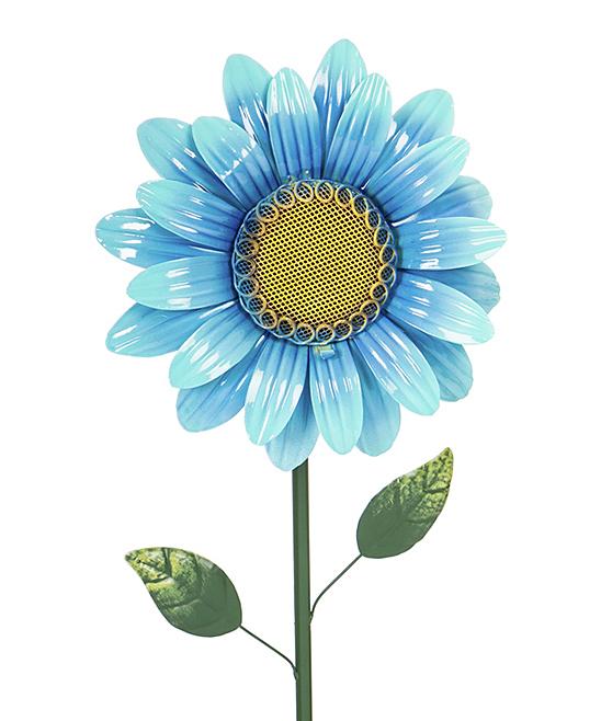 Green & Blue Floral Solar Garden Stake