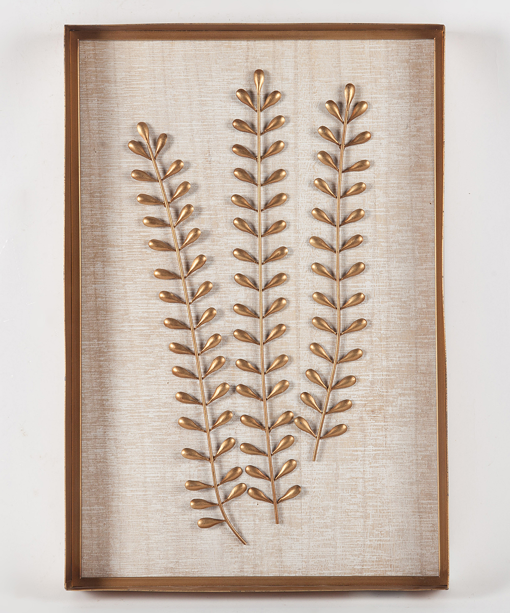 Winsome House Fern Leaf Wood Metal Wall Wall Art