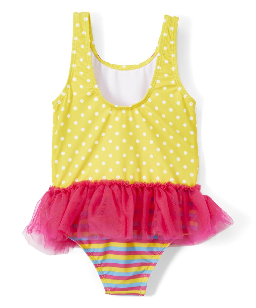 2a777551b6 ... Girls Fancy Nancy Polka Dot Skirted One-Piece Swimsuit - Alternate  Image 2