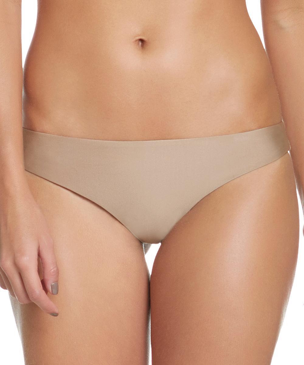 Tan Ruched Full-Coverage Halter Bikini Bottoms - Women