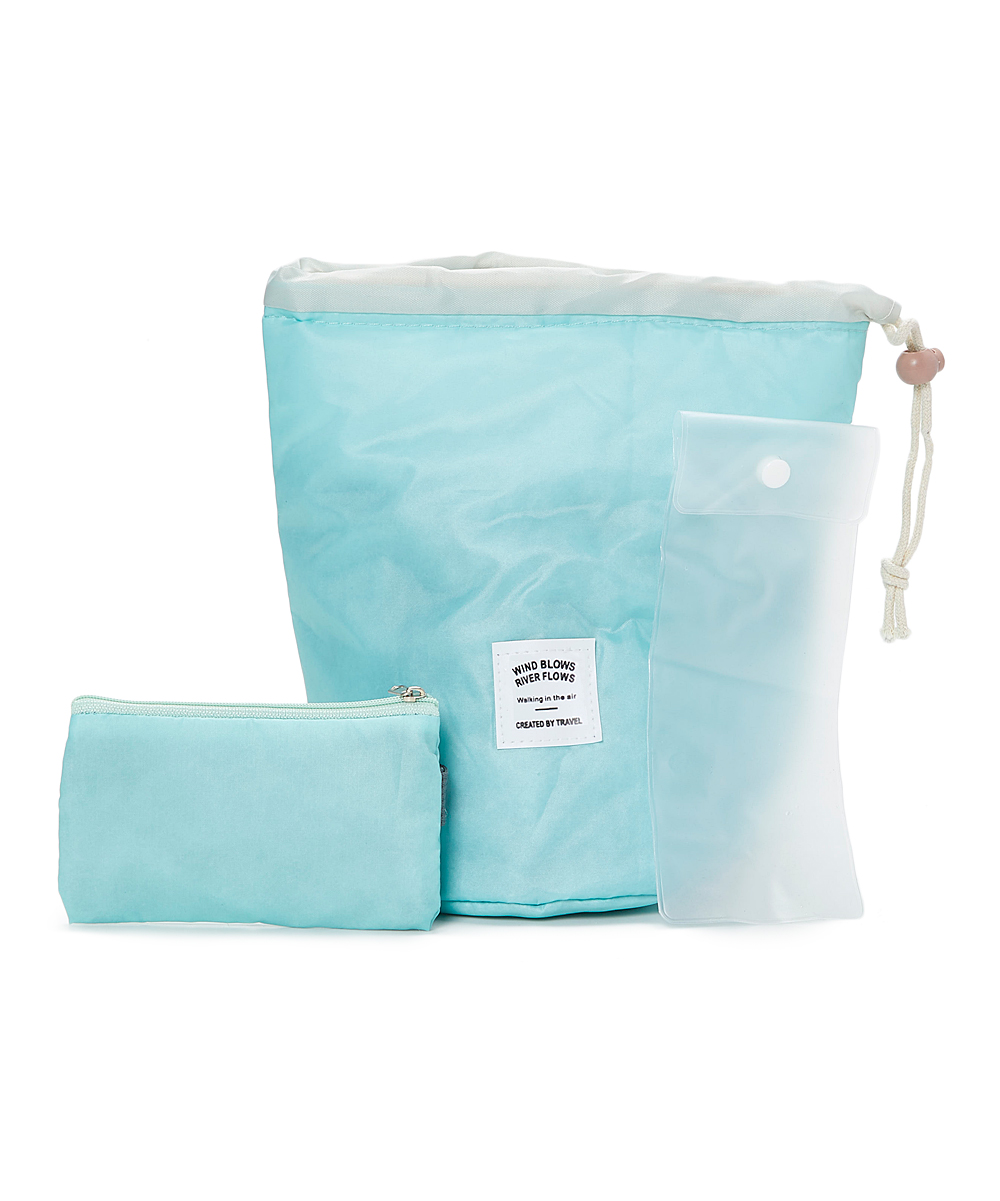 Unbranded  Makeup Bags Green - Green Cosmetic Bag Set