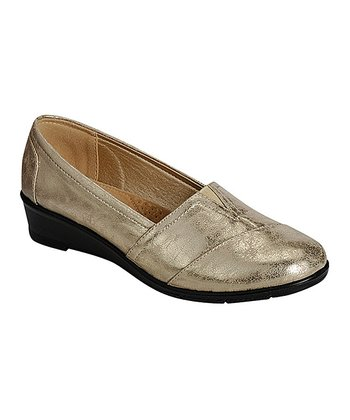 b40686f9bd7d2 Gold Panel Dido Loafer - Women