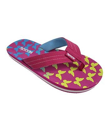5c74aa449a2ba Pink Butterfly Flip-Flop - Girls
