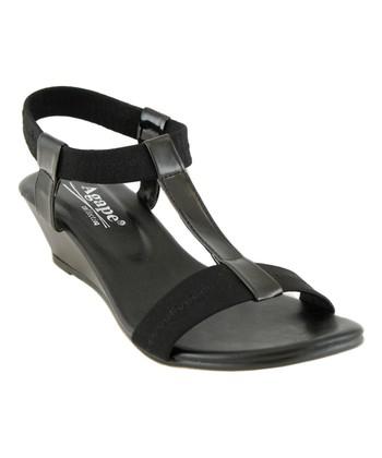 d0d8d37c44c Black Image T-Strap Sandal - Women