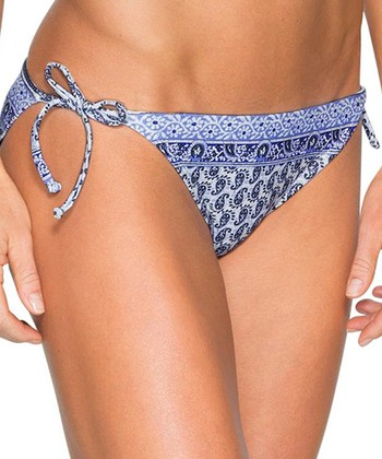 86c9fbd141571 Wildflower Blue Bells Beach String Bikini Bottoms - Women