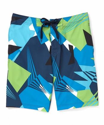 2165b015b5 Navy Vertigo Stretch Boardshorts - Men & Big · $11.29. $21.00 · Aqua Marlin  Paisley Swim Trunks ...