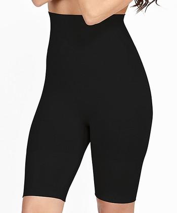 e66ed28ff5175 Black Firm Compression Seamless High-Waist Shaper Shorts - Women