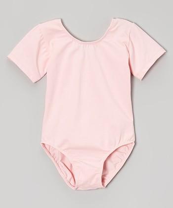 778cd594478 Pink Cap-Sleeve Leotard - Toddler & Girls