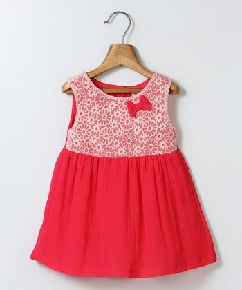 ccf8db2f71141 Pink & Lace Chiffon Bow A-Line Dress - Infant, Toddler & Girls