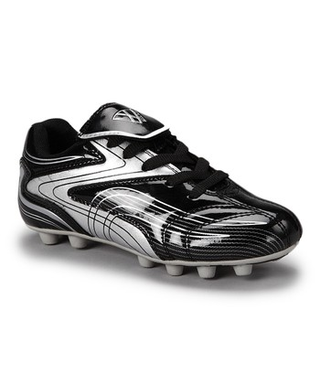 2dbb8f248 Black   Silver Striker Cleat - Kids
