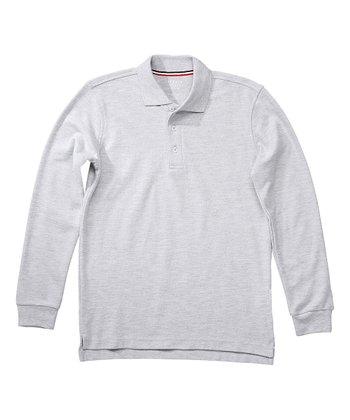 7a64f3b8d Gray Long-Sleeve Piqué Polo - Boys