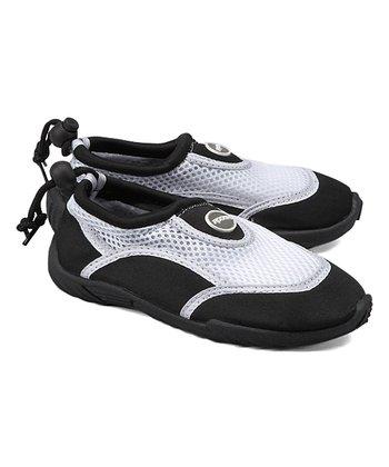 ed197cdf4 Black   White Aqua Stripe Water Shoe - Kids