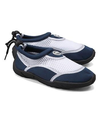 5ca9d85badcf87 Royal   White Aqua Stripe Water Shoe - Boys