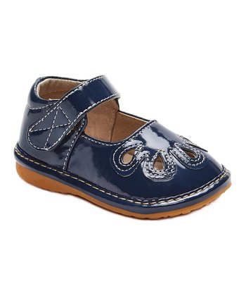 37f226a15f Navy Patent Ella Squeaker Mary Jane - Girls