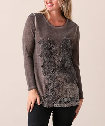 76c13888f02a9 Coffee Floral Lace Tunic - Women