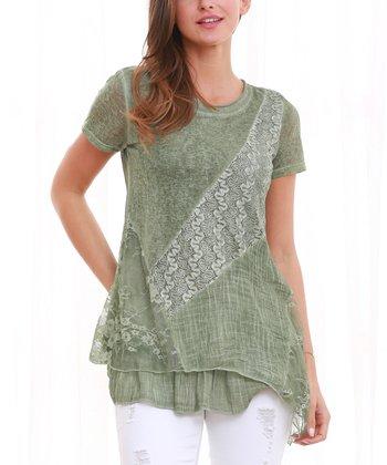 2754398f41f89 Green Short-Sleeve Ruffle-Layer Tunic - Women   Plus · Pink Lace Layer Top  ...