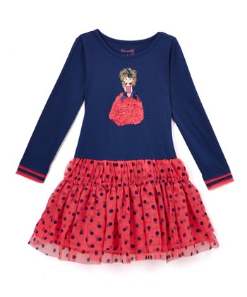 Red   Black Polka Dot Drop-Waist Dress - Toddler 14eb9b039