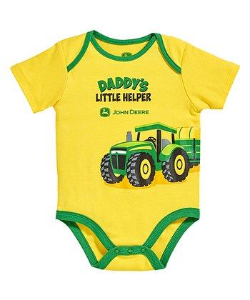 a8837a00b Yellow & Green 'Daddy's Little Helper' Bodysuit - Infant