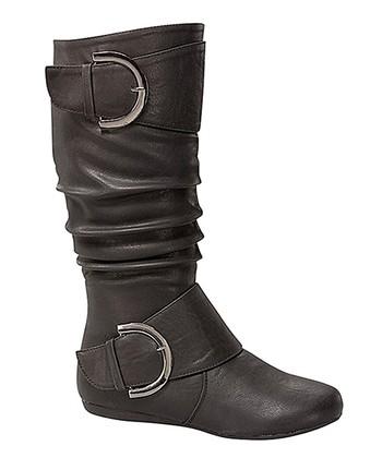 7b1e94763bd Black Bank Buckle Boot - Women