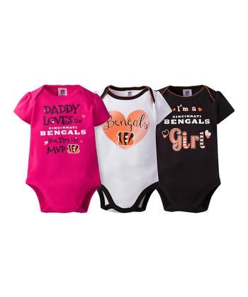 8d3ac2462 Cincinnati Bengals Pink Short-Sleeve Bodysuit Set - Infant
