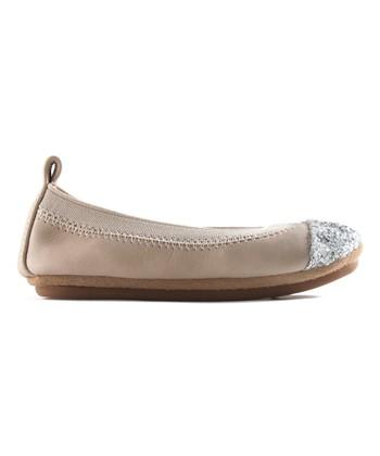 a09a5f18eb5 Fawn   Silver Glitter Toe Sammie Leather Ballet Flat - Girls