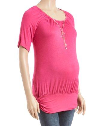 55706e5e01427 Fuchsia Necklace Maternity Tee