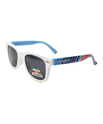 895337f5e18 White Stripe Polarized Sunglasses